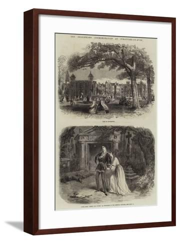 The Shakespeare Commemoration at Stratford-On-Avon--Framed Art Print