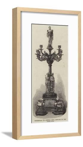 Testimonial to Admiral Rous, Steward of the Jockey Club--Framed Art Print