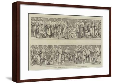 The Prince Consort Memorial, Sculptures Round the Base--Framed Art Print