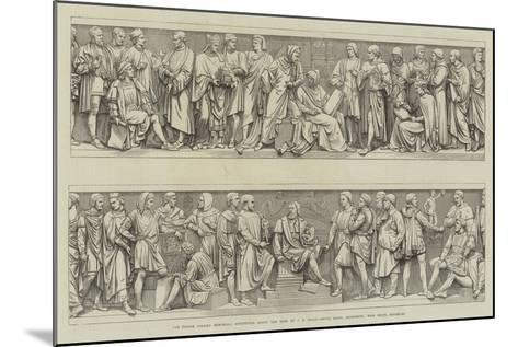 The Prince Consort Memorial, Sculptures Round the Base--Mounted Giclee Print