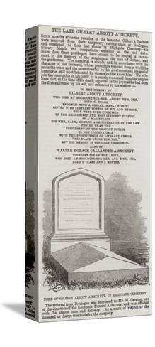 Tomb of Gilbert Abbott A'Beckett, in Highgate Cemetery--Stretched Canvas Print