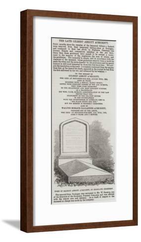 Tomb of Gilbert Abbott A'Beckett, in Highgate Cemetery--Framed Art Print
