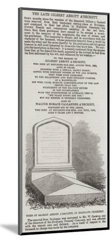 Tomb of Gilbert Abbott A'Beckett, in Highgate Cemetery--Mounted Giclee Print