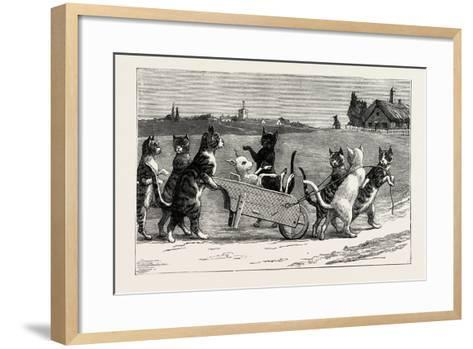 She Wished Them Good Night, and Went Up to Bed, 1890--Framed Art Print