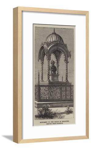Monument to the Rajah of Kolapore, Erected Near Florence--Framed Art Print