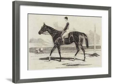 Vengeance, the Winner of the Cesarewitch Stakes, 1856--Framed Art Print