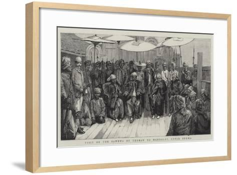 Visit of the Sawbwa of Thebaw to Mandalay, Upper Burma--Framed Art Print