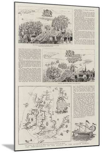 The Tercentenary of the Defeat of the Spanish Armada--Mounted Giclee Print