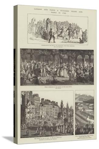London and Paris a Hundred Years Ago, Paris in 1790--Stretched Canvas Print