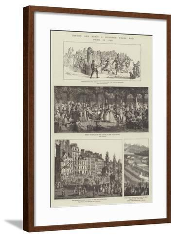 London and Paris a Hundred Years Ago, Paris in 1790--Framed Art Print