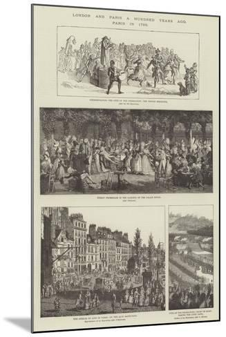 London and Paris a Hundred Years Ago, Paris in 1790--Mounted Giclee Print