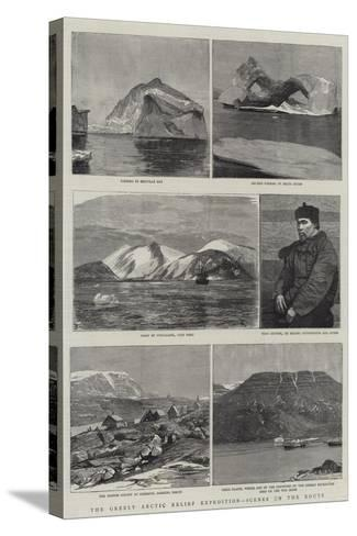 The Greely Arctic Relief Expedition, Scenes on the Route--Stretched Canvas Print