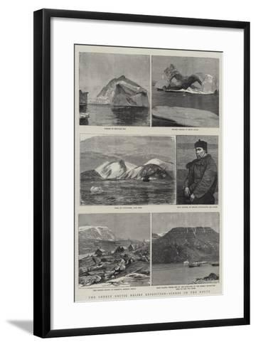 The Greely Arctic Relief Expedition, Scenes on the Route--Framed Art Print