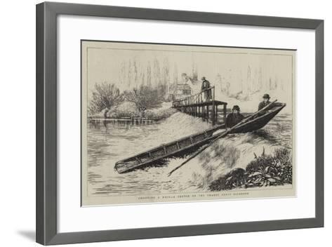 Shooting a Weir, a Sketch on the Thames Above Richmond--Framed Art Print