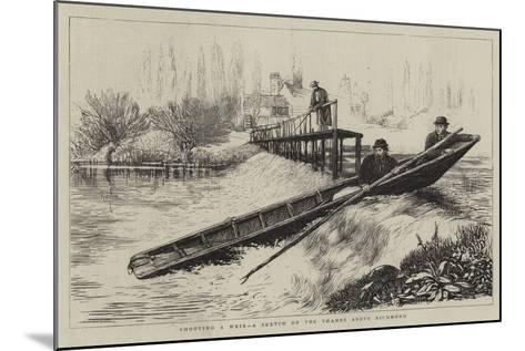 Shooting a Weir, a Sketch on the Thames Above Richmond--Mounted Giclee Print