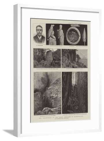 The Discoveries at the Great Zimbabwe in Mashonaland--Framed Art Print