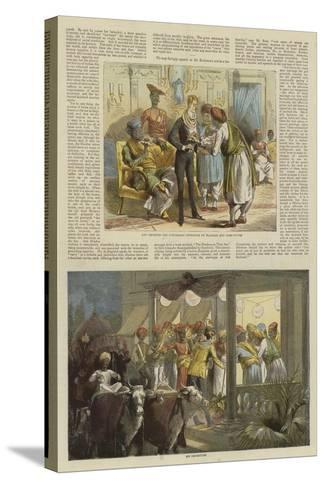 Mr Row Bahawdur Ramchunder Gopaldas's Wedding Party--Stretched Canvas Print