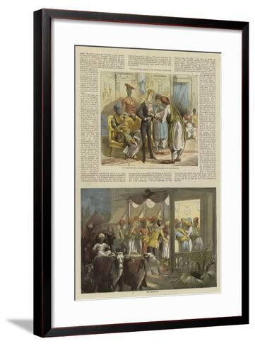 Mr Row Bahawdur Ramchunder Gopaldas's Wedding Party--Framed Art Print