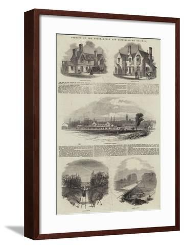 Opening of the Northampton and Peterborough Railway--Framed Art Print
