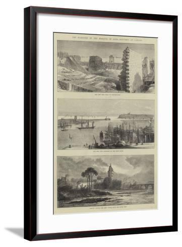 The Marriage of the Marquis of Bute, Sketches at Cardiff--Framed Art Print