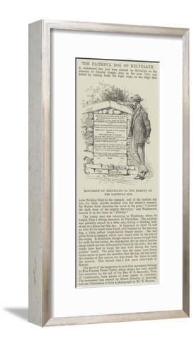 Monument on Helvellyn to the Memory of the Faithful Dog--Framed Art Print
