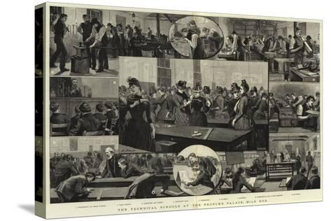 The Technical Schools at the People's Palace, Mile End--Stretched Canvas Print