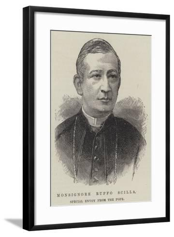Monsignore Ruffo Scilla, Special Envoy from the Pope--Framed Art Print