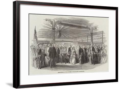 Presentation of the Addresses to Her Majesty at Tamworth--Framed Art Print