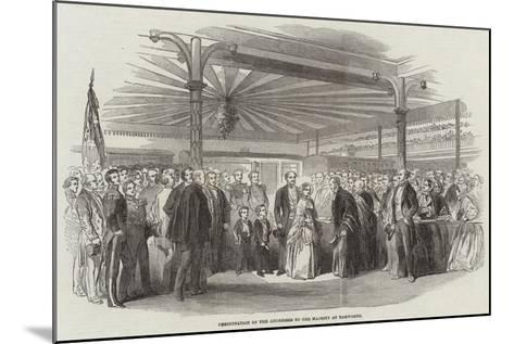Presentation of the Addresses to Her Majesty at Tamworth--Mounted Giclee Print