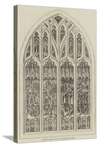 Shakespeare Memorial Window for Stratford-On-Avon Church--Stretched Canvas Print