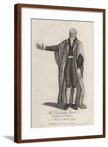 The Cambridge Giant, Thomas Bell, 7 Feet, 20 Inches High--Framed Art Print