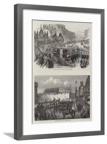 Wedding of the Prince of Wales and Alexandra of Denmark--Framed Art Print
