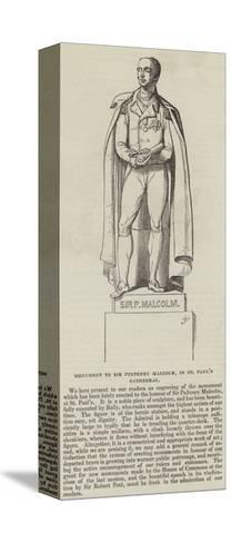 Monument to Sir Pulteney Malcolm, in St Paul's Cathedral--Stretched Canvas Print