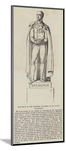 Monument to Sir Pulteney Malcolm, in St Paul's Cathedral--Mounted Giclee Print