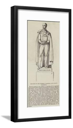 Monument to Sir Pulteney Malcolm, in St Paul's Cathedral--Framed Art Print