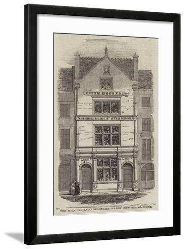 The Cornhill and Lime-Street Wards' New School-House--Framed Art Print