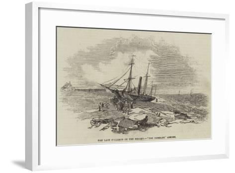The Late Collision on the Mersey, The Rambler Ashore--Framed Art Print