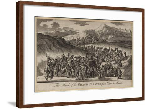 The March of the Grand Caravan from Cairo to Mecca--Framed Art Print