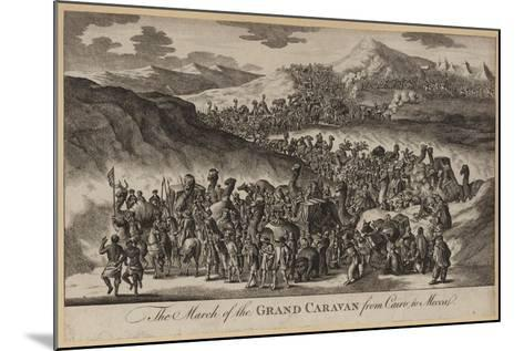 The March of the Grand Caravan from Cairo to Mecca--Mounted Giclee Print