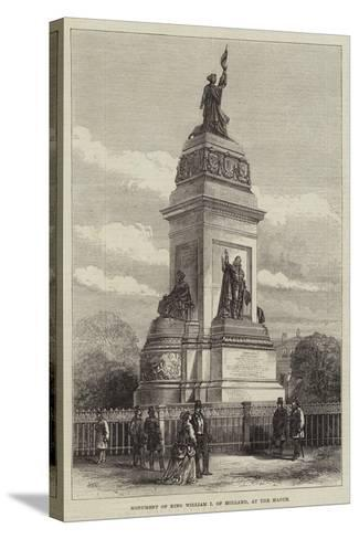 Monument of King William I of Holland, at the Hague--Stretched Canvas Print
