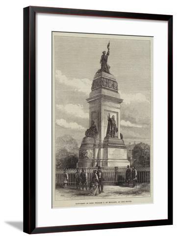 Monument of King William I of Holland, at the Hague--Framed Art Print