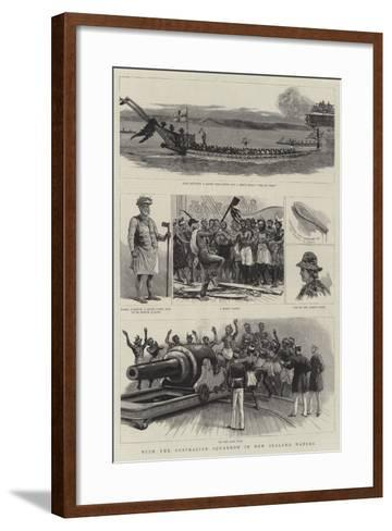 With the Australian Squadron in New Zealand Waters--Framed Art Print