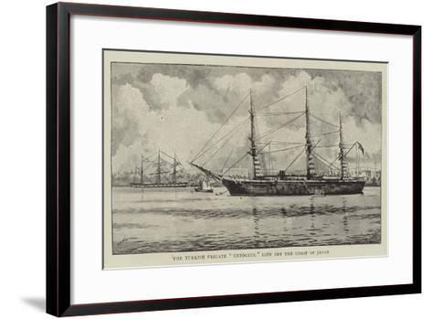 The Turkish Frigate Ertogrul Lost Off the Coast of Japan--Framed Art Print