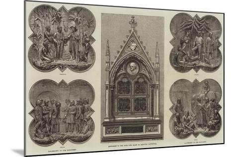 Monument to the Late Lord Elgin in Calcutta Cathedral--Mounted Giclee Print