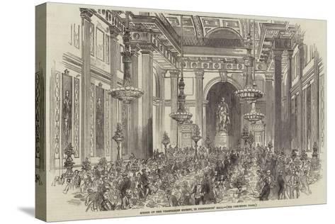 Soiree of the Vegetarian Society, in Freemasons' Hall--Stretched Canvas Print