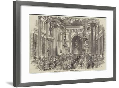 Soiree of the Vegetarian Society, in Freemasons' Hall--Framed Art Print