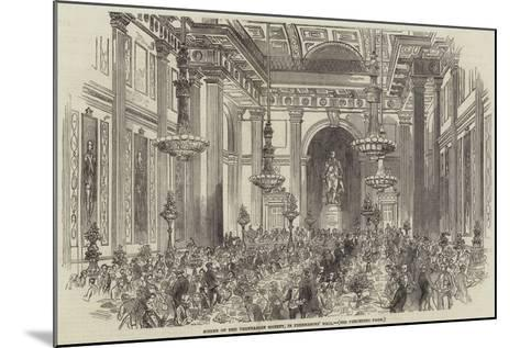 Soiree of the Vegetarian Society, in Freemasons' Hall--Mounted Giclee Print
