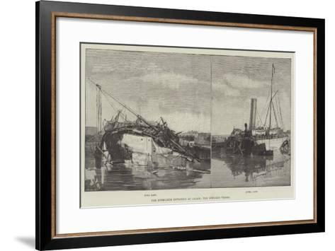 The Petroleum Explosion at Calais, the Wrecked Vessel--Framed Art Print