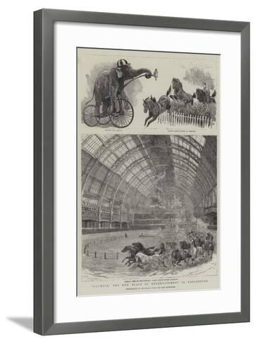 Olympia, the New Place of Entertainment in Kensington--Framed Art Print