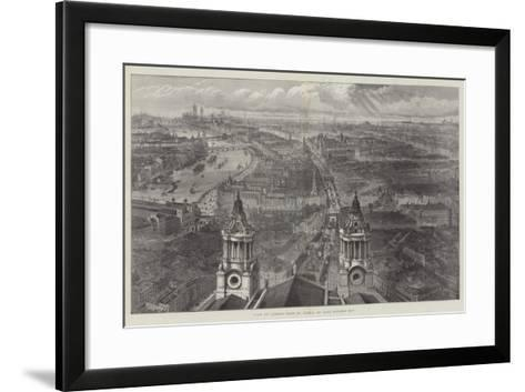 View of London from St Paul's, on Lord Mayor's Day--Framed Art Print